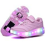 Recollect Kinder LED Schuhe mit Rollen Drucktaste...