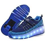 MNVOA Unisex Kinder Mode LED Schuhe mit Rollen...