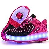 Junge Mädchen Schuhe Kinderschuhe mit Rollen LED...
