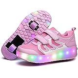 Lovelysi Unisex Kinder LED Licht Schuhe USB...