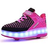 Unisex Kinder Jungen Mädchen LED Rollschuh Schuhe...